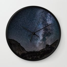 Perseid Over Sacagawea Peak Wall Clock