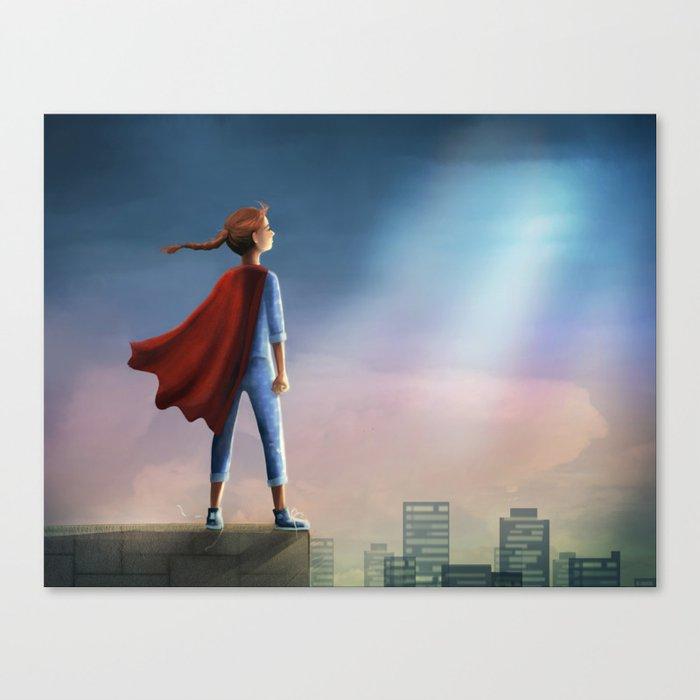 Super Girl Canvas Print