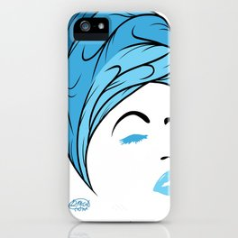 Lady Wrap (blue) iPhone Case