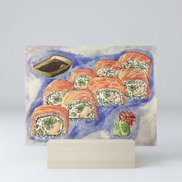 Eukaryotic Sushi Roll Mini Art Print