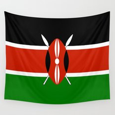 National flag of Kenya - Authentic version, to scale and color Wall Tapestry