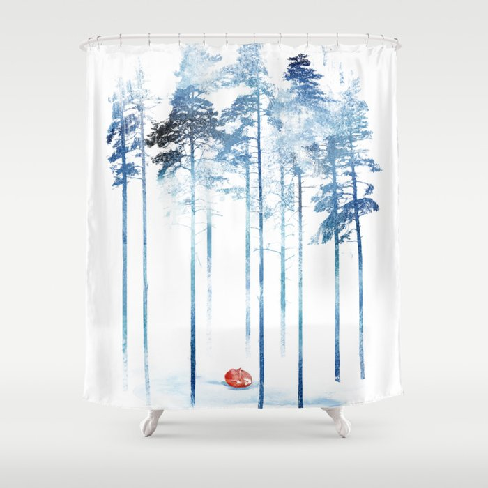 Sleeping In The Woods Shower Curtain