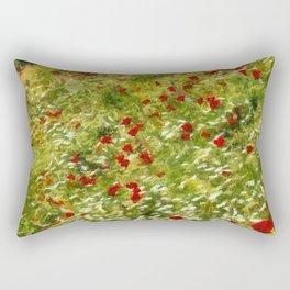 Impressionist Poppies Rectangular Pillow