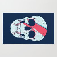 bowie Area & Throw Rugs featuring Bowie Skull by Eyes Wide Awake