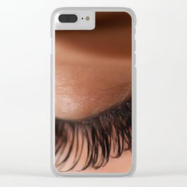 Eye Lashes Clear iPhone Case