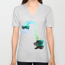 Contrasts above and below Sky Unisex V-Neck