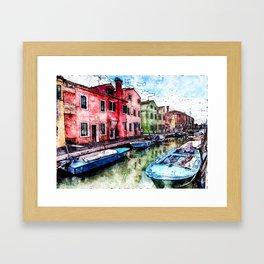 Burano, Italy Framed Art Print