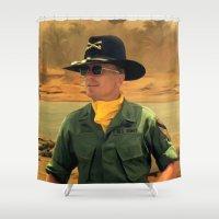 robert farkas Shower Curtains featuring Robert Duvall @ Apocalypse Now by Gabriel T Toro
