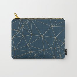 Benjamin Moore Gold Hidden Sapphire Geometric Pattern With White Shimmer Carry-All Pouch