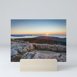 Acadia National Park Sunrise Maine Coast Mountain Sea Landscape Mini Art Print