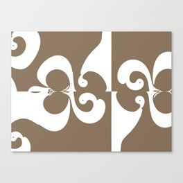 Brown and White Abstract Canvas Print
