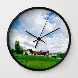 Wisconsin Farm Field Wall Clock