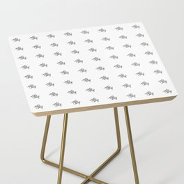nice and easy   [pattern, black] Side Table