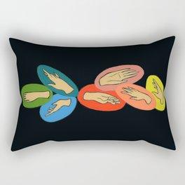 Hand Gems Rectangular Pillow