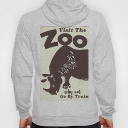 Visit the Zoo Rhino vintage poster Hoody