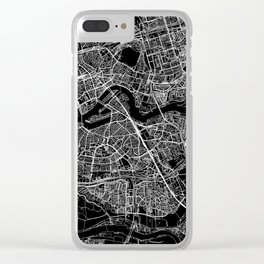 Rotterdam Black Map Clear iPhone Case
