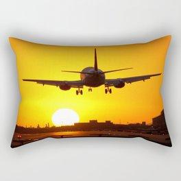 Beautiful 737 Sunset Rectangular Pillow