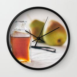 Pear and Vanilla Love Wall Clock