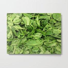 Spinach Metal Print