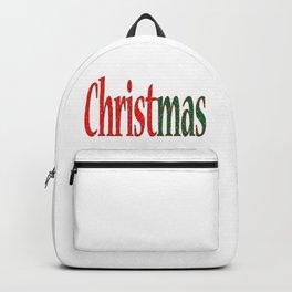 Christmas Holiday Text Backpack