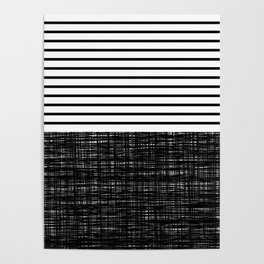 platno (black stripes) Poster