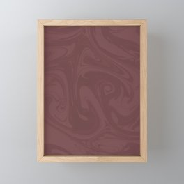 Pantone Red Pear Abstract Fluid Art Swirl Pattern Framed Mini Art Print