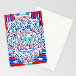 Litmus lion pattern ecopop Stationery Cards