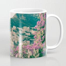 Flowers in Positano, Italy on the Amalfi Coast Coffee Mug