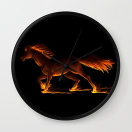 Fire Trail Horse Wall Clock