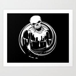 Skeleton Wrestler Art Print