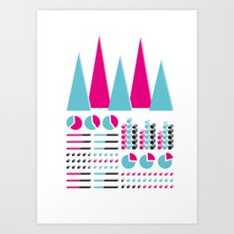 Infographic Selection Art Print