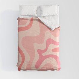 Liquid Swirl Abstract in Soft Pink Comforters