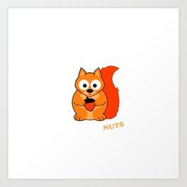 Perceptive Squirrel Art Print