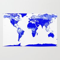 map of the world Area & Throw Rugs featuring World map by Whimsy Romance & Fun