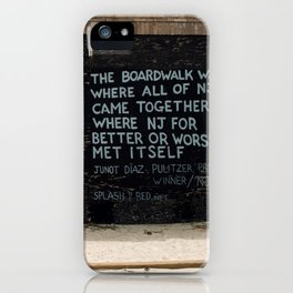Jersey Shore Boardwalk / Junot Diaz Quote iPhone Case