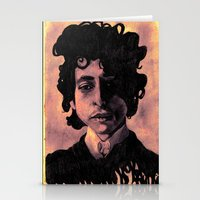 60s Stationery Cards featuring Bob Dylan (60s style) by Catheriney