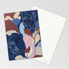 Facelace On Tree Leaves Stationery Cards