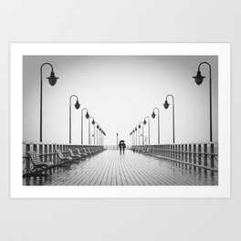 In Love On the Pier Art Print