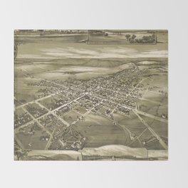 Vintage Pictorial Map of Gettysburg PA (1888) Throw Blanket