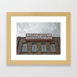 McBride's Pawn Shop in Denton, TX  Framed Art Print