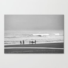 Before surfing Canvas Print