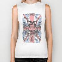 uk Biker Tanks featuring UK skull by Tshirt-Factory