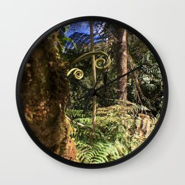 The Ferns of the Cloud Forest Wall Clock