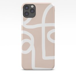 blush squiggle iPhone Case