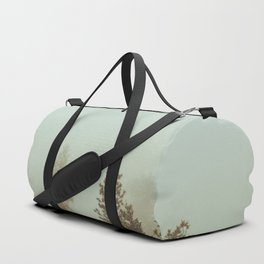 Pastel Green Adventure Forest Nature Photography Duffle Bag