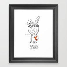 Vampire Bunny! Framed Art Print