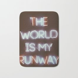 The World is my Runway (color) Bath Mat