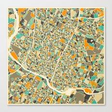 Austin Map Canvas Print