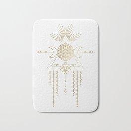 Golden Goddess Mandala Bath Mat