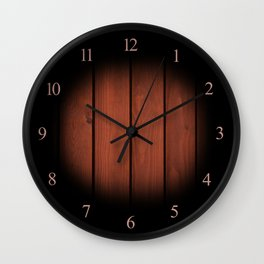 Brown dark boards texture Wall Clock